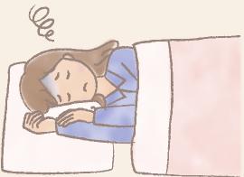 寝たきりの人のイラスト